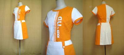 auキャンペーンガールの衣装